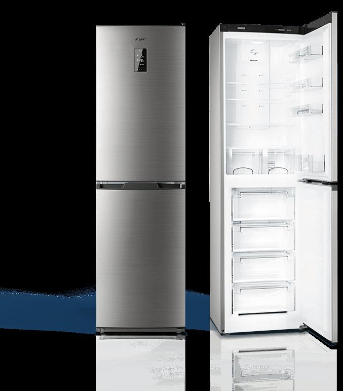 Холодильники NO FROST ATLANT PREMIUM нержавіюча сталь