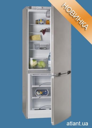 Внутренний вид холодильника АТЛАНТ серебристого цветаХМ 6224–060