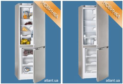 Холодильник АТЛАНТ 6121-180 в дизайне Geometry внутри