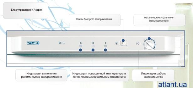 Блок управления холодильника АТЛАНТ 4700 серии