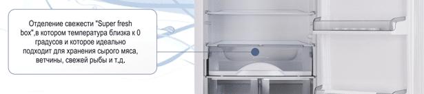 Отделение свежести «Super Fresh box» холодильников АТЛАНТ новой серии COMFORT ХМ 6325, ХМ 6324 и ХМ 6326