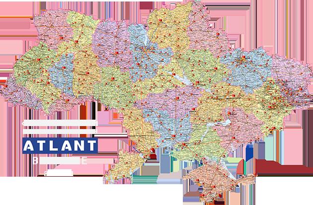 Доставка фирменного интернет-магазина АТЛАНТ в Украине