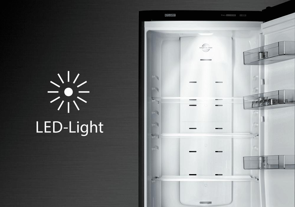 LED лампа в холодильнике Атлант