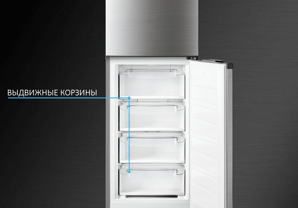 Выдвижные корзины в холодильнике ATLANT Premium