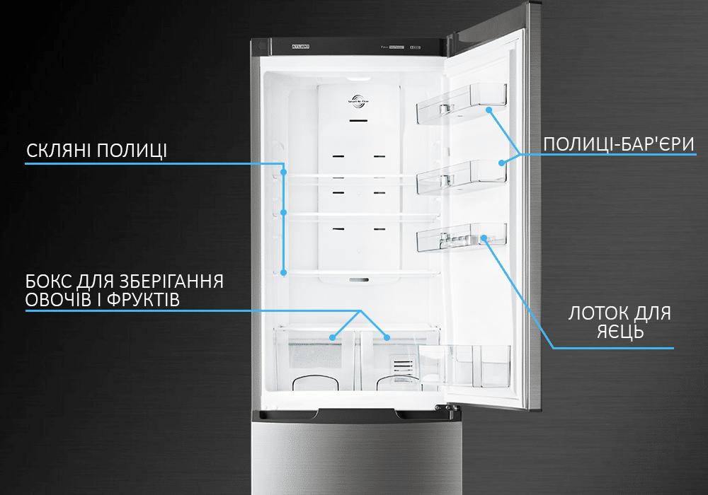 Холодильник ATLANT серія PREMIUM всередині