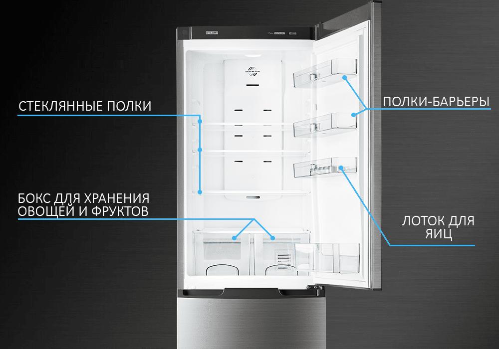 Холодильник ATLANT серия PREMIUM внутри
