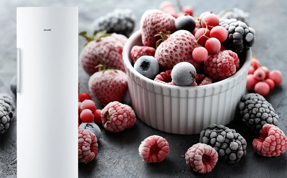 Як правильно заморожувати та зберігати ягоди у морозильній камері ATLANT