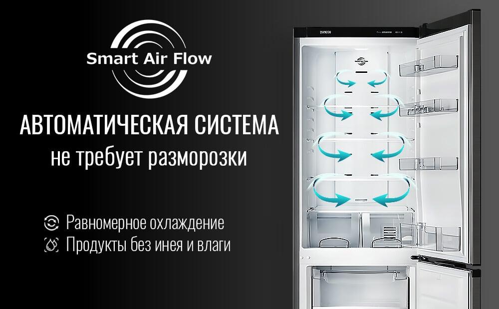 Автоматическая система SMART AIR FLOW не требует разморозки
