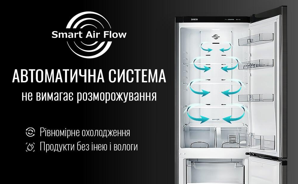 В холодильниках ATLANT встановлена система SMART AIR FLOW