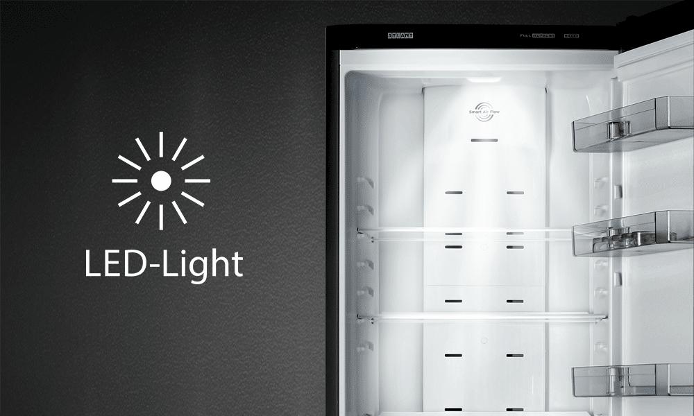 LED light в холодильниках ATLANT серії PREMIUM і MAXIMUM PREMIUM