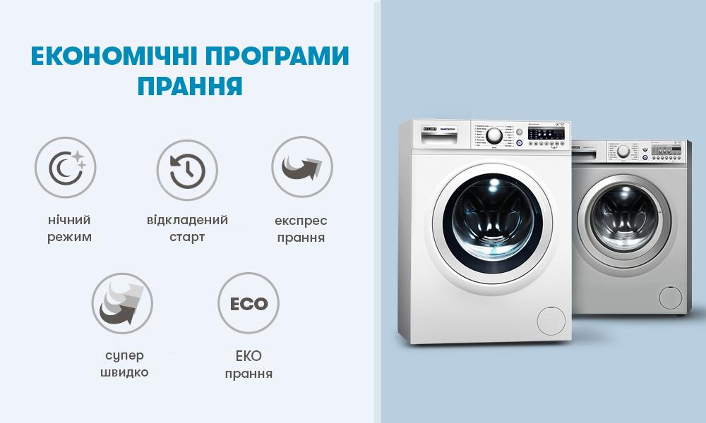 Економічні програми прання в пральних машинах АТЛАНТ