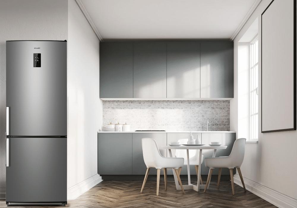 """Холодильник ATLANT ХМ 4524-160 ND у кольорі """"Мокрий асфальт"""""""