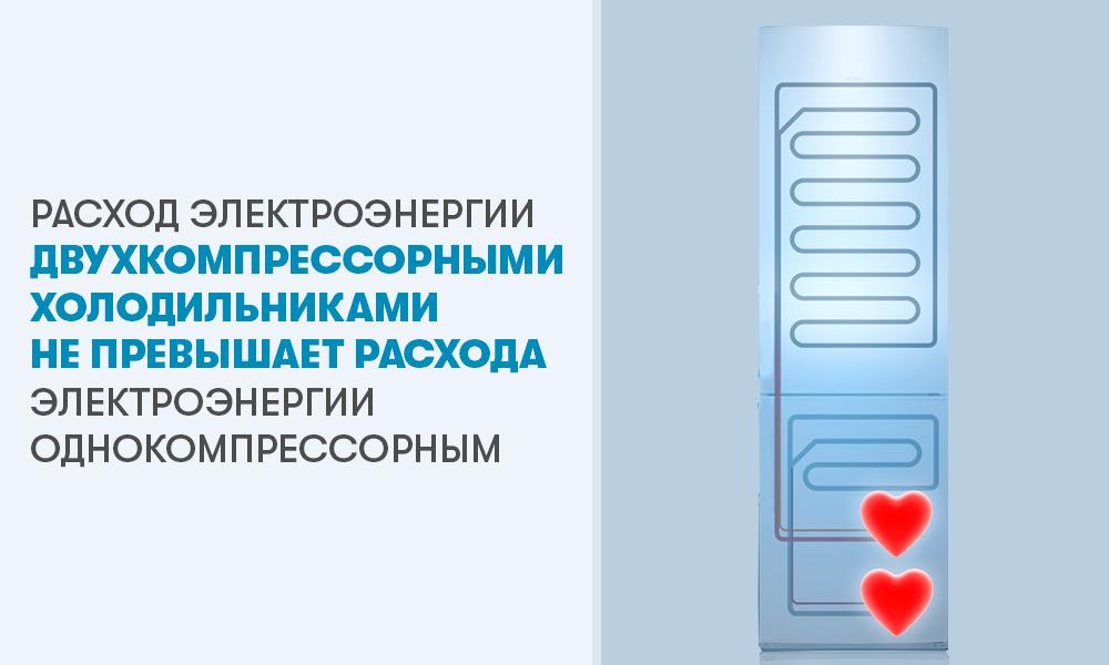 Потребление электроэнергии двухкомпрессорных холодильников АТЛАНТ