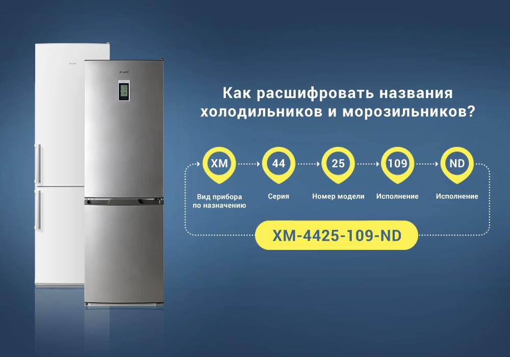 Как расшифровываются названия холодильников и морозильных камер ATLANT