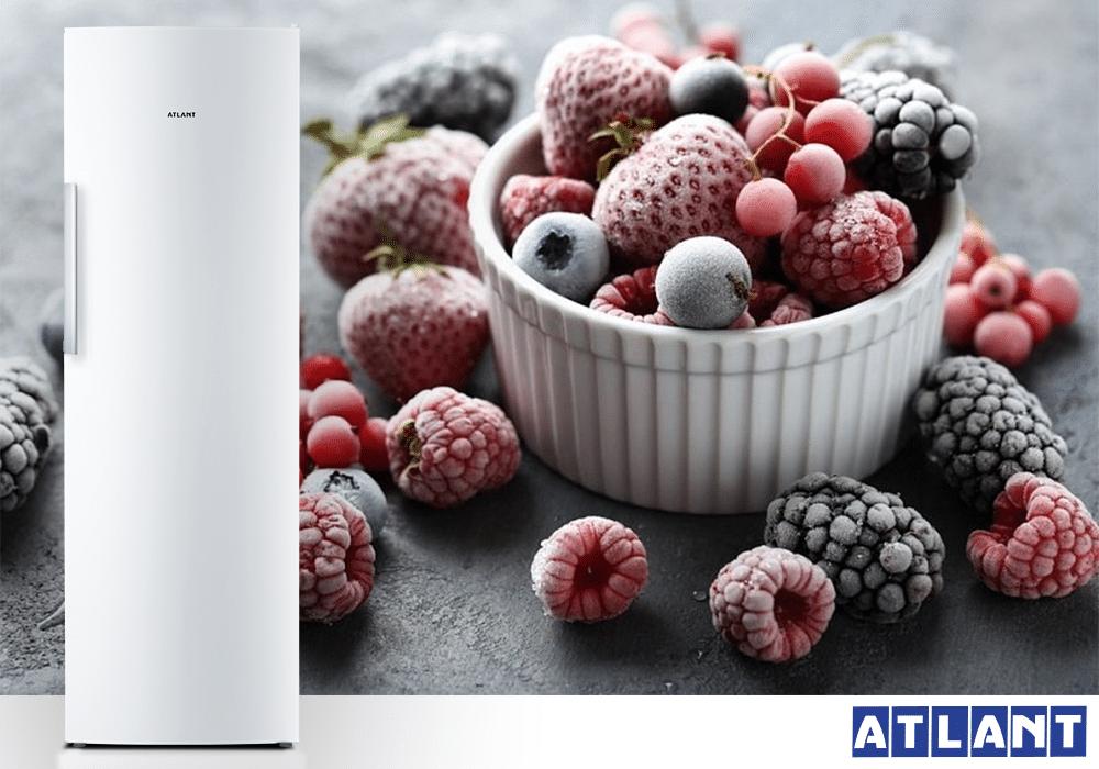Як правильно заморожувати ягоди в морозильній камері ATLANT