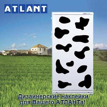 Вместе с холодильником и морозильной камерой АТЛАНТ вы сможете заказать дизайнерскую наклейку