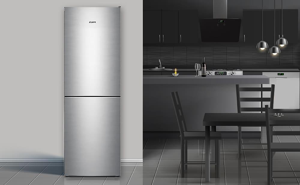 НОВИНКА! Холодильник ATLANT ХМ 4619 серії ADVANCE в новому кольорі - нержавіюча сталь-3
