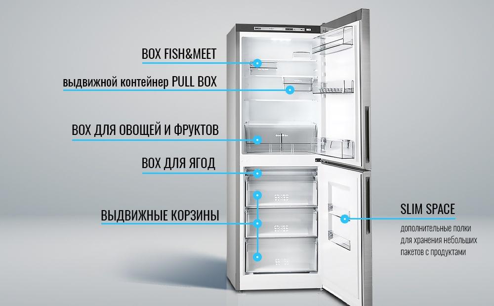 НОВИНКА! Холодильник ATLANT ХМ 4619 серии ADVANCE в новом цвете – нержавеющая сталь-3