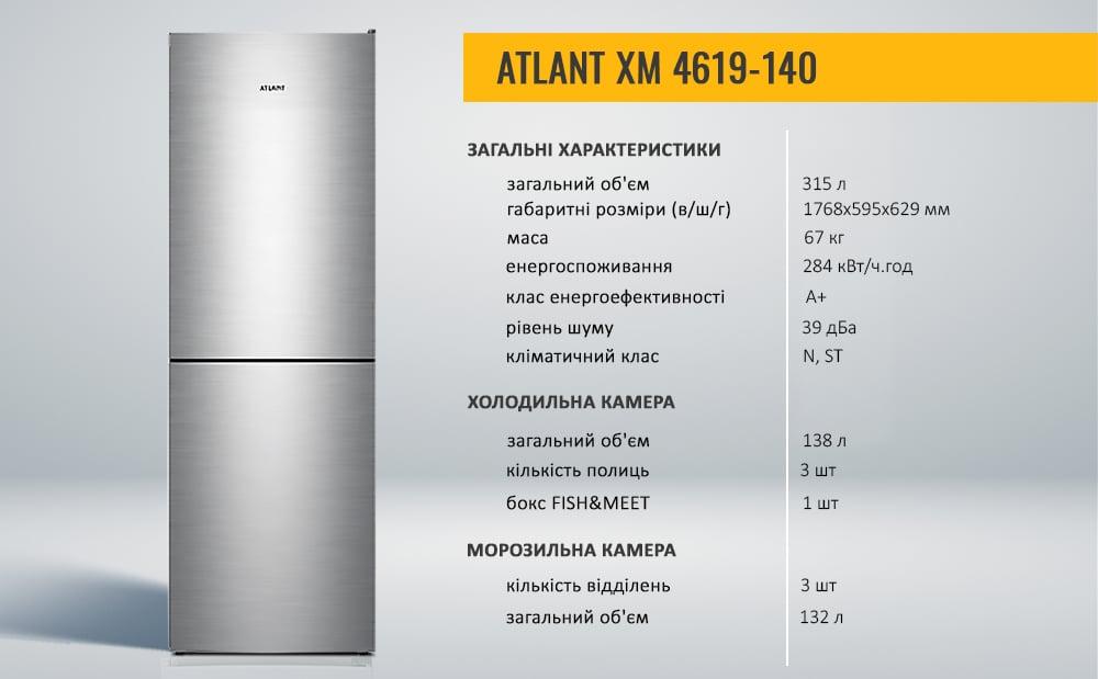 НОВИНКА! Холодильник ATLANT ХМ 4619 серії ADVANCE в новому кольорі - нержавіюча сталь-2